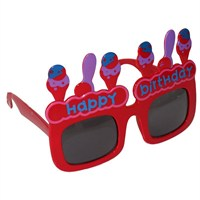 Pandoli Happy Birthday Eğlence Gözlüğü - Kırmızı