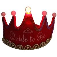 Pandoli Bride To Be Partisi Işıklı Taç - Kırmızı