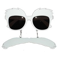 Pandoli Kaşlı Bıyıklı Parti Gözlüğü - Beyaz