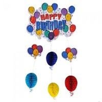 Partisepeti Happy Birthday Balonlu Süs