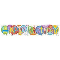 Partisepeti Happy Birthday Gigant Banner 136Cm