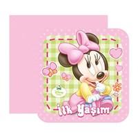 Baby Minnie Mouse İlk Yaşım Davetiye