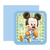 Partisepeti Baby Mickey Mouse İlk Yaşım Davetiye