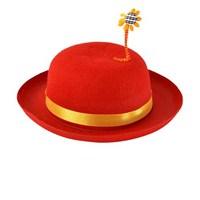 Kırmızı Çiçek Süslü Şapka