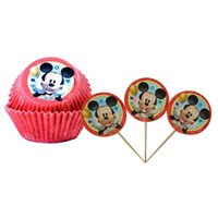 Partisepeti Mickey Mouse Cupcake Kabı Ve Kürdan Takım