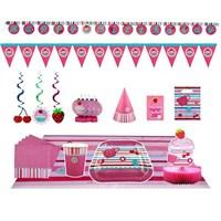 Çilek Kız Doğum Günü Parti Seti Lüx