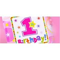Partisepeti 1 Yaş Kız Doğum Günü Parti Seti Lux
