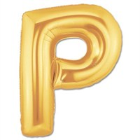 Partisepeti P Harf Gold Folyo Balon