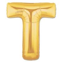 T Harf Gold Folyo Balon