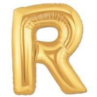 Partisepeti R Harf Gold Folyo Balon
