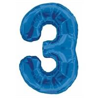 3 Folyo Balon Mavi