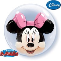 Partisepeti Minnie Mouse Double Bubble Folyo Balon