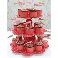 Partisepeti Cupcake Stand Kırmızı