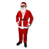 Noel Baba Lüks Kostüm Takım