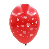 KullanAtMarket Beyaz Kalpli Kırmızı Balon