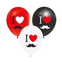 KullanAtMarket I Love Bıyık Balon