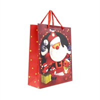 KullanAtMarket Noel Baba Desenli Karton Çanta