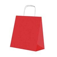 KullanAtMarket Kırmızı Küçük Kraft Çanta
