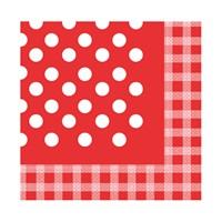 KullanAtMarket Kırmızı Puantiyeli Kağıt Peçete