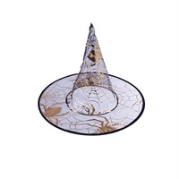KullanAtMarket Altın Örümcekli Cadı Şapkası