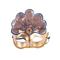 KullanAtMarket Altın Payetli Balo Maskesi