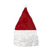 KullanAtMarket Saçlı Noel Baba Şapkası
