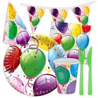 KullanAtMarket Rengarenk Balonlu Parti Seti
