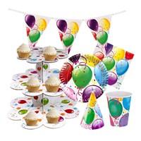 KullanAtMarket Rengarenk Balonlu Cupcake Parti Seti