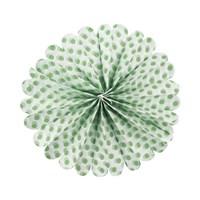 KullanAtMarket Yeşil Puantiyeli Ponpon Süs 40 Cm