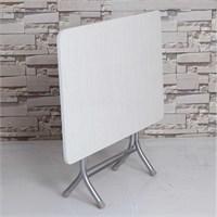 Vural Ahşap Katlanabilir Beyaz 70 X 110 Katlanır Masa
