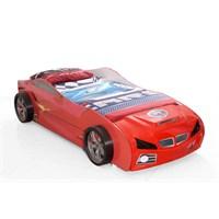 Arabalı Yatak 3D Yavrusuz Kumandasız Kırmızı