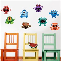 Modelce Sevimli Yaratıklar Çocuk Odası Sticker ve 2 adet Priz Sticker