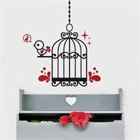 Modelce Kuş Kafesi Çocuk Odası Sticker ve 2 adet Priz Sticker