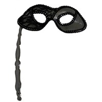 Pandoliişlemeli Sopalı Karnaval Maskesi