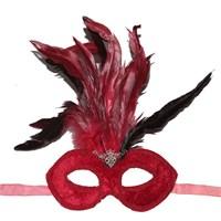 Pandolidantelli Venedik Tüylü Parti Maskesi