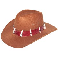 Pandoli Fildişi Taşlı Model Kovboy Şapkası Küçük Boy