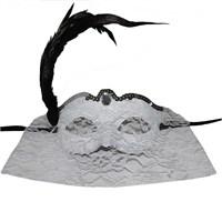 Pandolitüylü Dantelli Göz Peçeli Maske