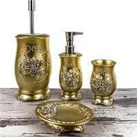 Mukko Home Rose Altın 4 Parça Banyo Takımı