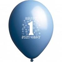 1 Yaş Mavi Balon 25 Adet