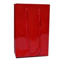Partisepeti Kırmızı Karton Hediye Çantası 12*17 Cm