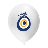 Nazar Boncuğu Baskılı Balon 25 Adet