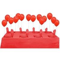 Partisepeti Kırmızı Doğum Günü Parti Seti