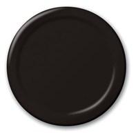 Siyah Tabak 8 Adet 22Cm