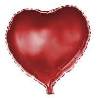 Partisepeti Kırmızı Kalp Folyo Balon