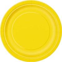 Sarı Karton Tabak 8 Adet 23 Cm.