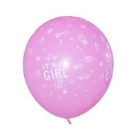 Partisepeti Its A Girl Şeker Pembesi Balon 25 Adet