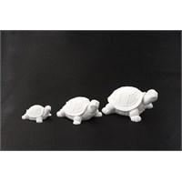 Hobi Polyester 3 Lü Kaplumbağa Biblo