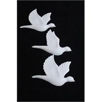 Hobi Polyester 3 Lü Kuş Duvar Süsü
