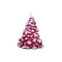 KullanAtMarket Kırmızı Dekoratif Çam Ağacı Mum