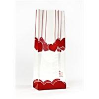 KullanAtMarket Kırmızı Kalpler Şeker Poşeti
